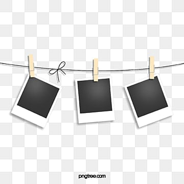 photo paper on the rope, Office Supplies, Polaroid, Polaroid PNG and PSD