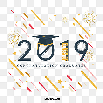 creative elements of golden fireworks graduation cap 2019, 2019, Geometric, Bachelor Cap PNG and PSD