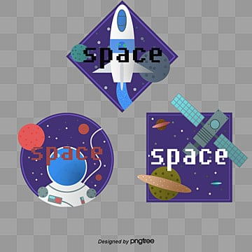 creative sign elements of space shuttle astronaut space station, Element, Cartoon, Astronaut PNG and PSD