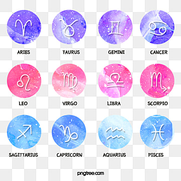element combination of water powder in constellation sketch, Element, Twelve Constellations, Lovely PNG and PSD