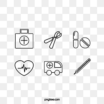 Flat and Simple Black Line Medical Line Draft Icon, Health Care, Medical Care, Flat PNG and PSD