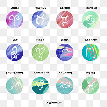 simple combination of twelve constellation symbols, Element, Twelve Constellations, Graphic PNG and PSD