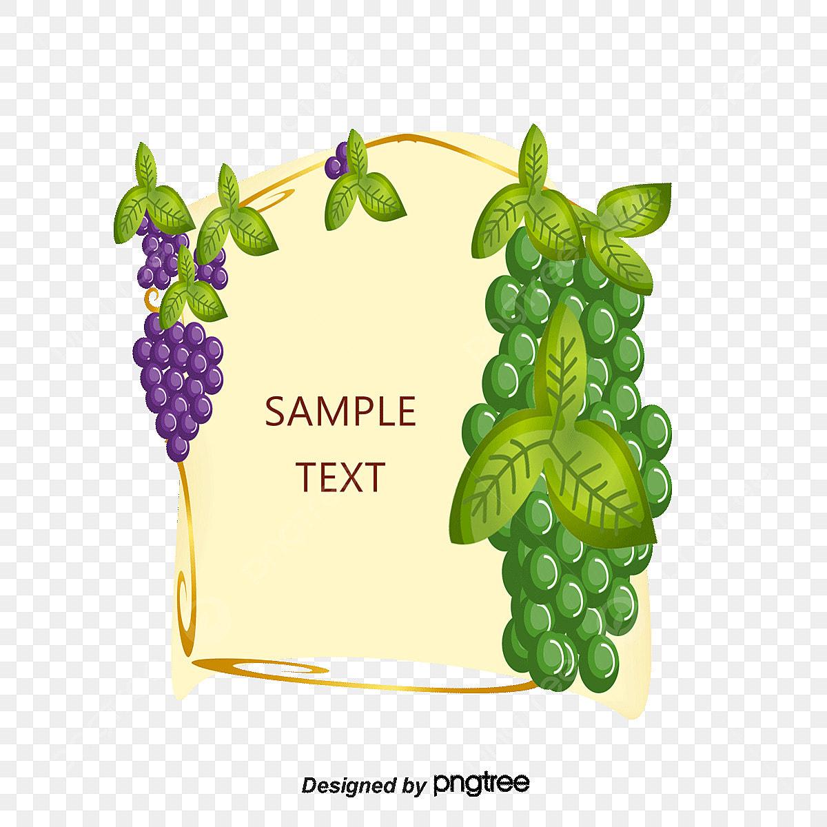 grape vine border png