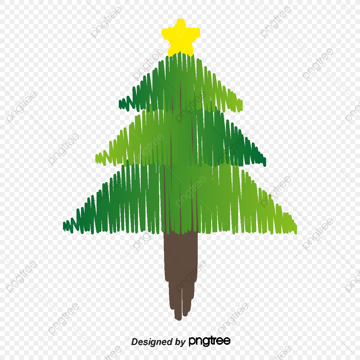Black And White Lines Christmas Tree Library Black Vector