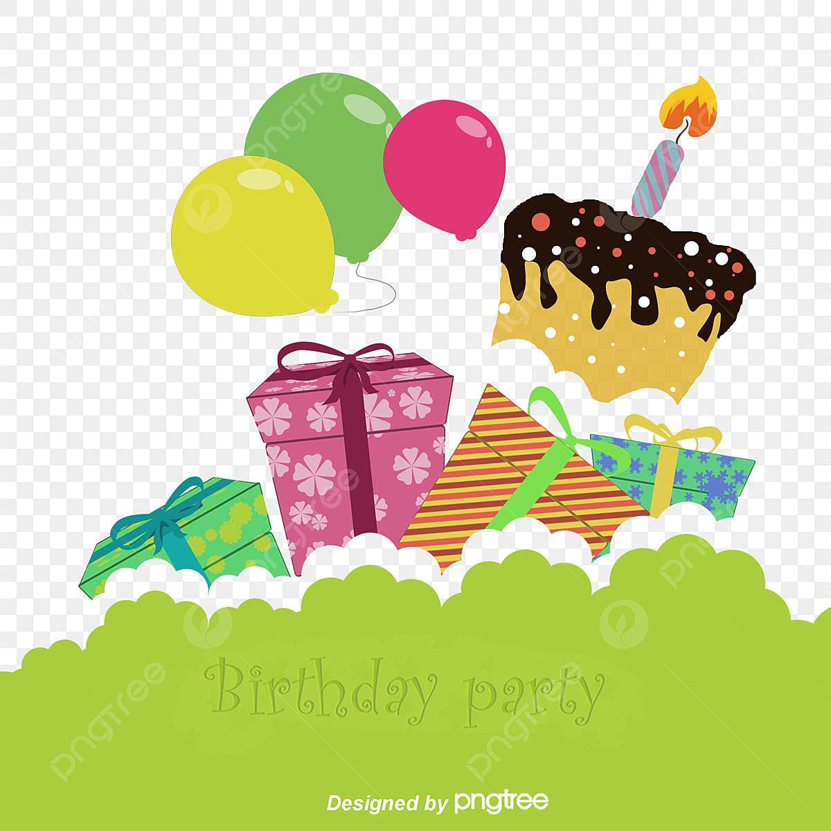 Cartoon Happy Birthday Background, Background Clipart, Gift Box