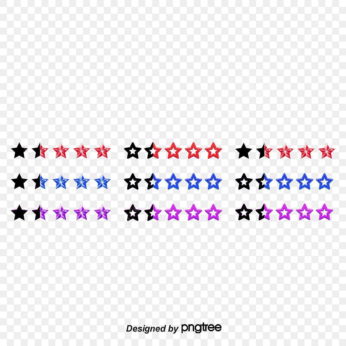 Creative Web Design Star Rating Star Rating Decoration Web