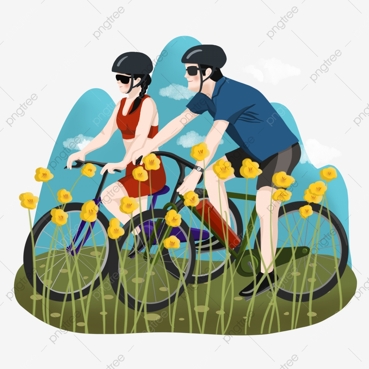Cycling, Sketch, Blue PNG Transparent Image and Clipart for Free