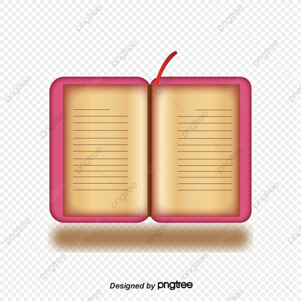 English Dictionary, Red Dictionary, Web Material, Reading PNG and