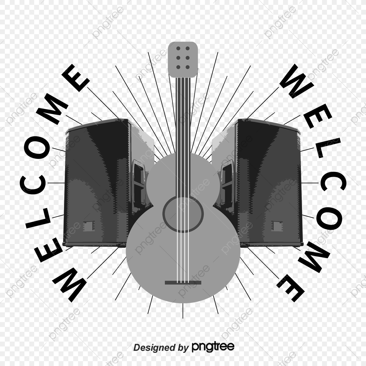 Guitar Speaker Prints Rock Music Musical Instruments Png And