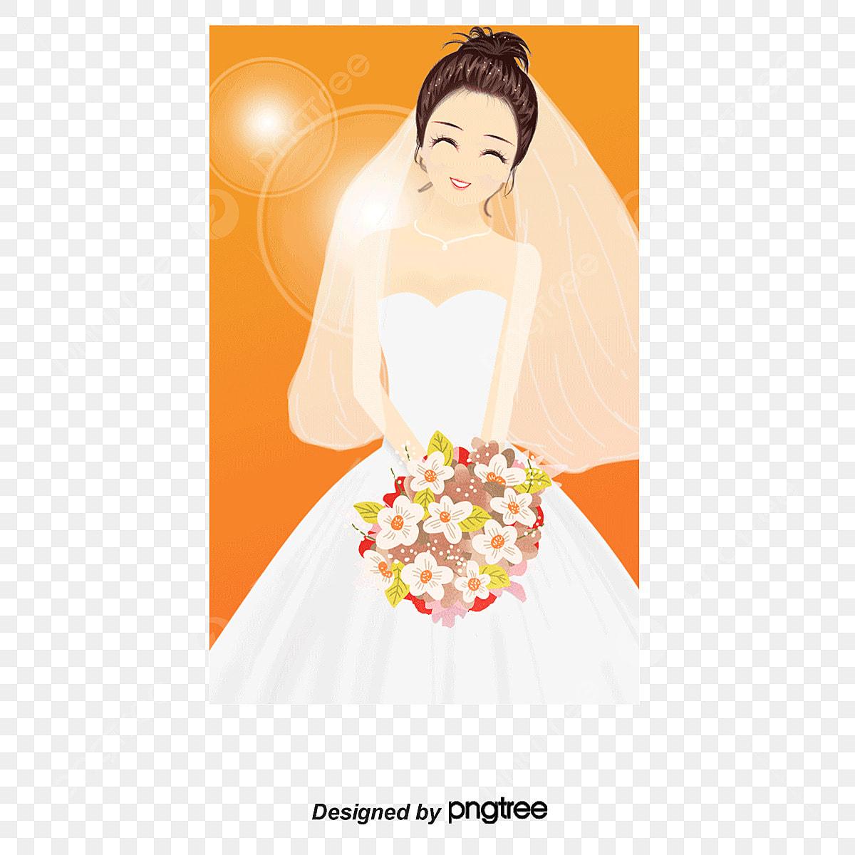0e5d6e9135e55d3 вектор счастье невеста в белом пряжа вектор свадебное платье невеста ...