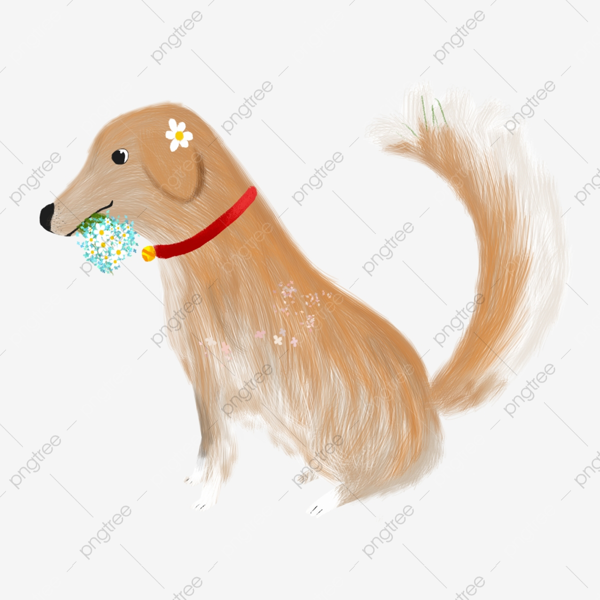 Holding The Handset Dog, Dog Clipart, Cute Dog, Songs Puppy PNG