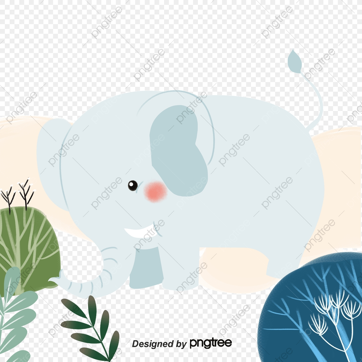 Jungle Elephant Elephant Grass Trees Png Transparent Clipart Image And Psd File For Free Download Download elephant png images transparent gallery. pngtree