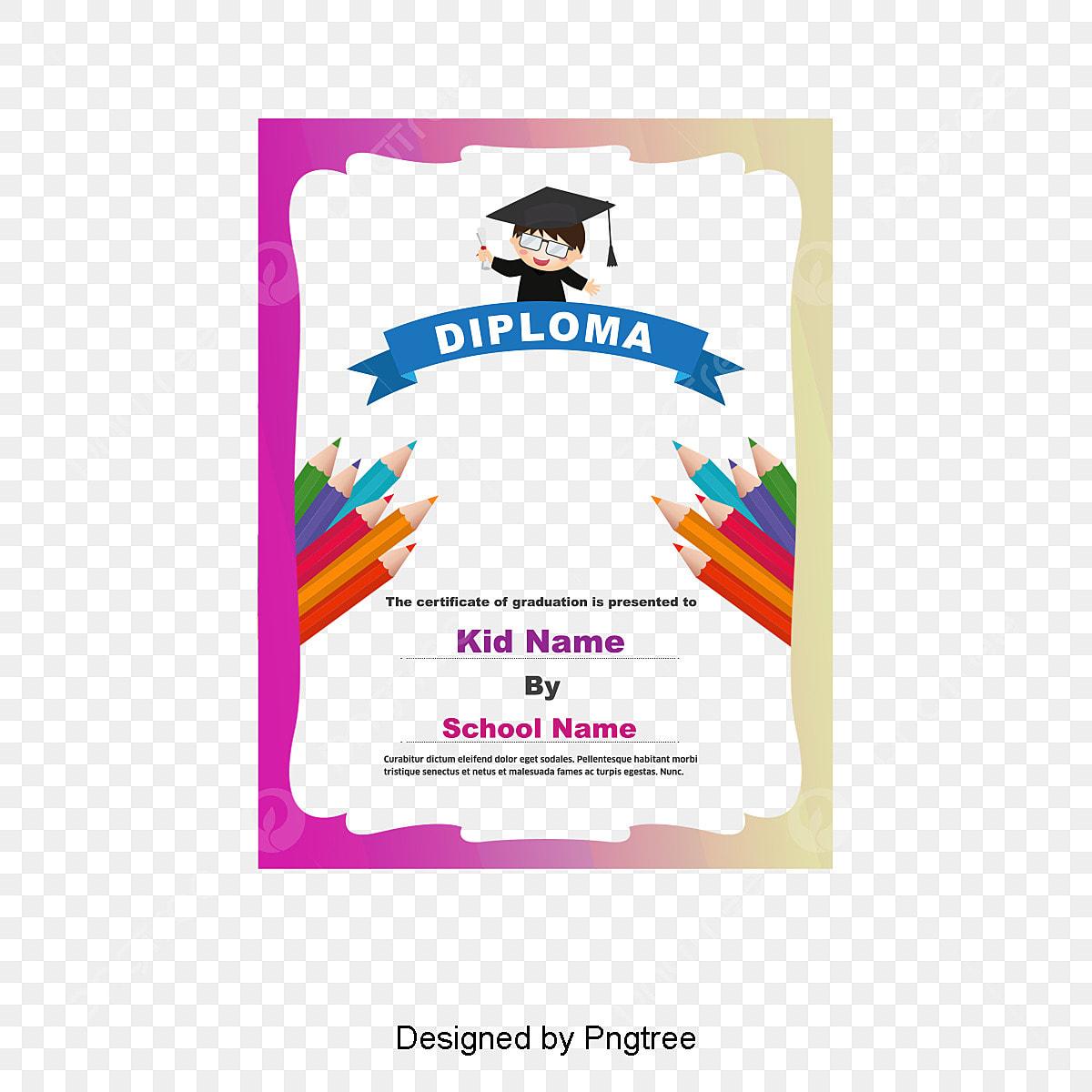kindergarten graduation frame colored border color of lead png