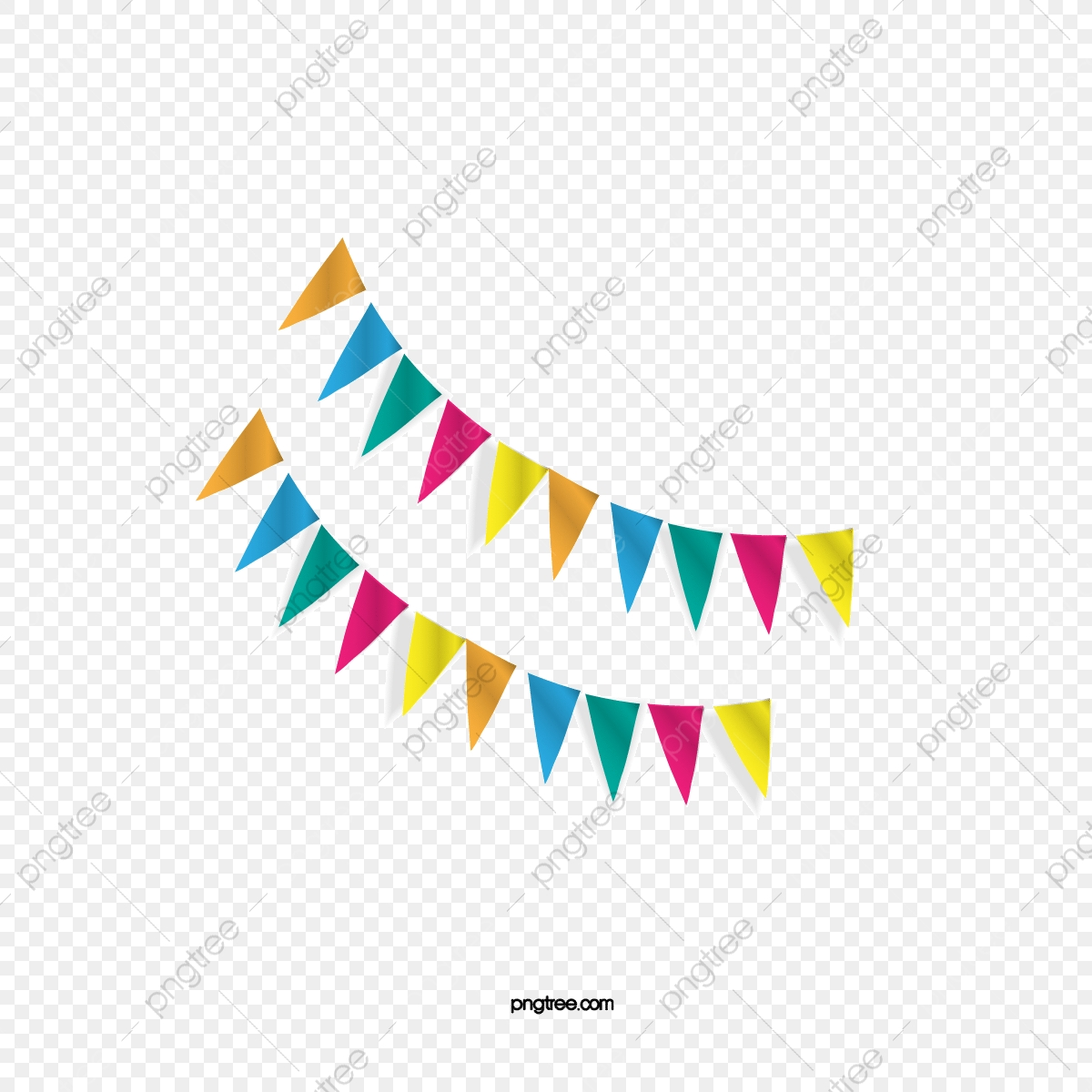 Vector Triangle Flags Triangle Vector Bunting Decorative