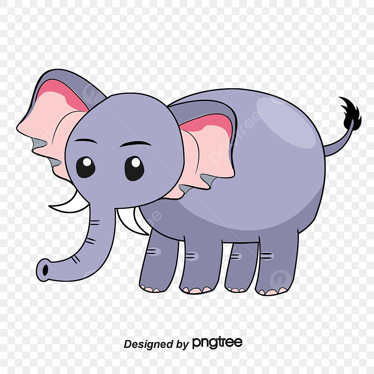 Desenho De Elefante Fofo Nariz Pintado A Mao Animal Dos Desenhos