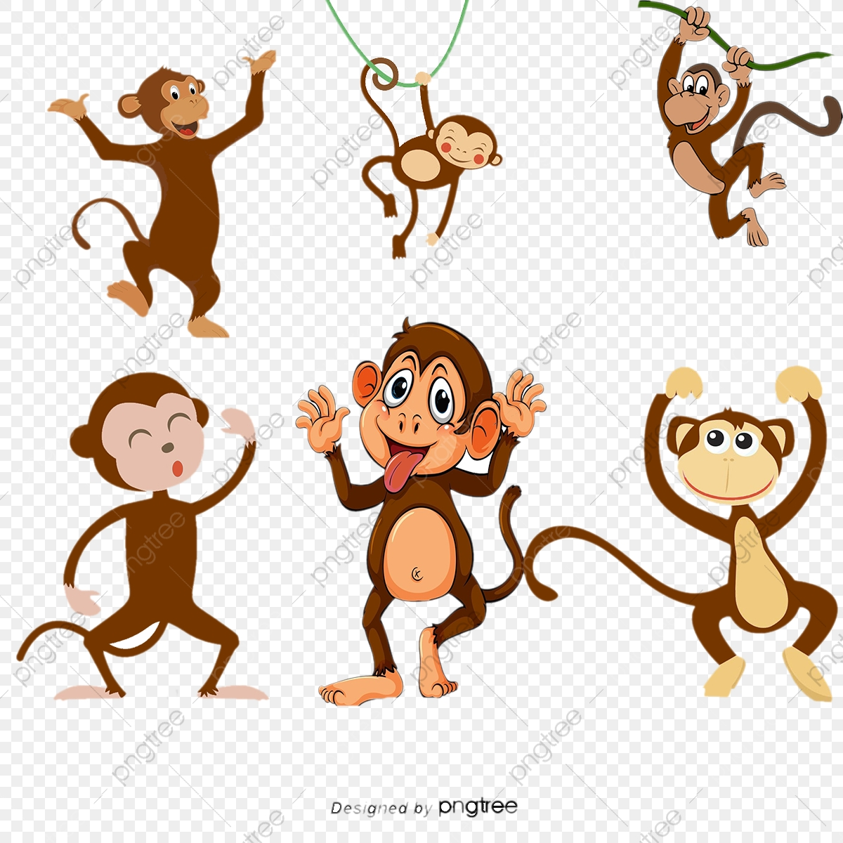 Gambar Monyet Animasi Png Download 100 Gambar Monyet Kartun Vektor Keren Gratis