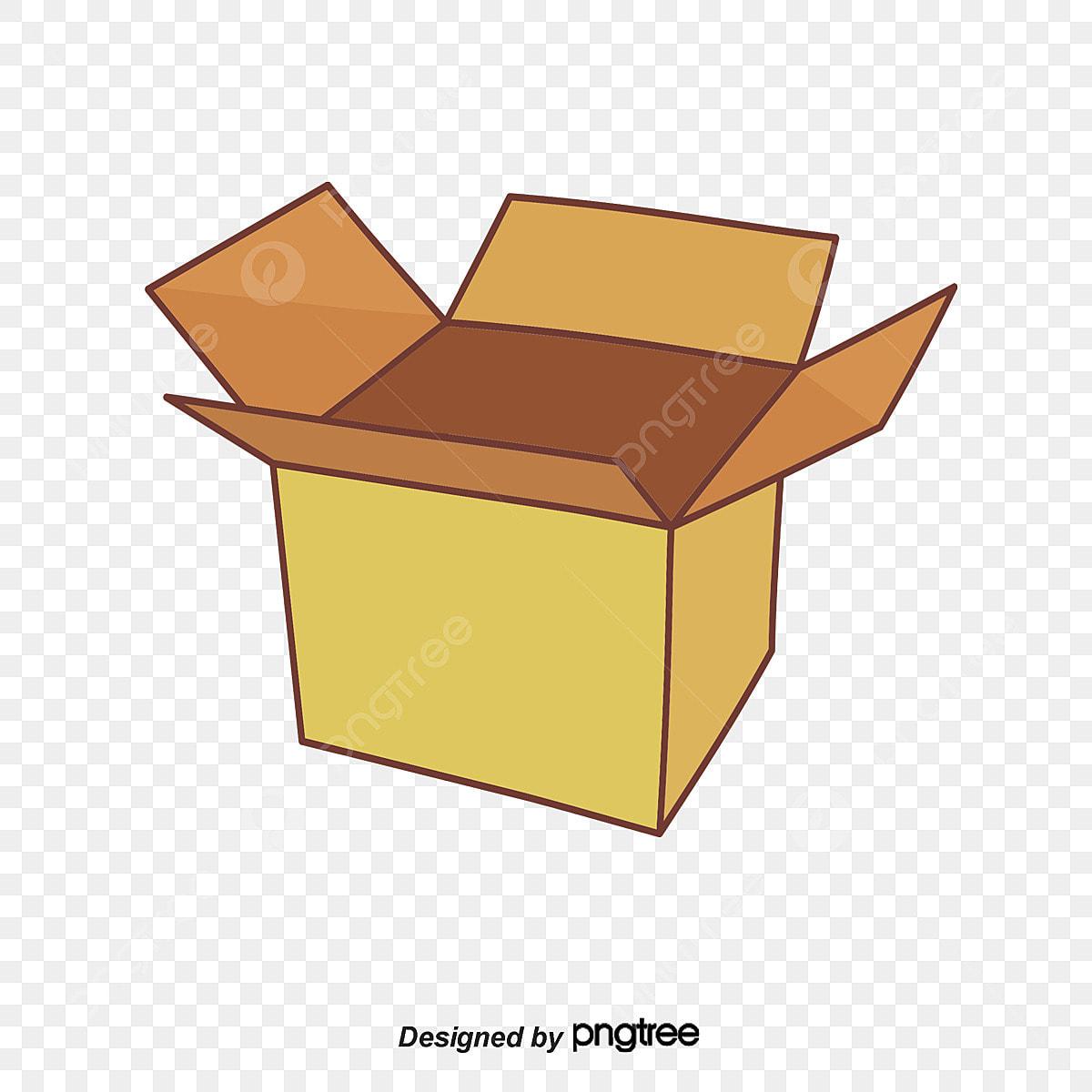 3d Model Of Open Cardboard Boxes, 3d Model, Open The Box