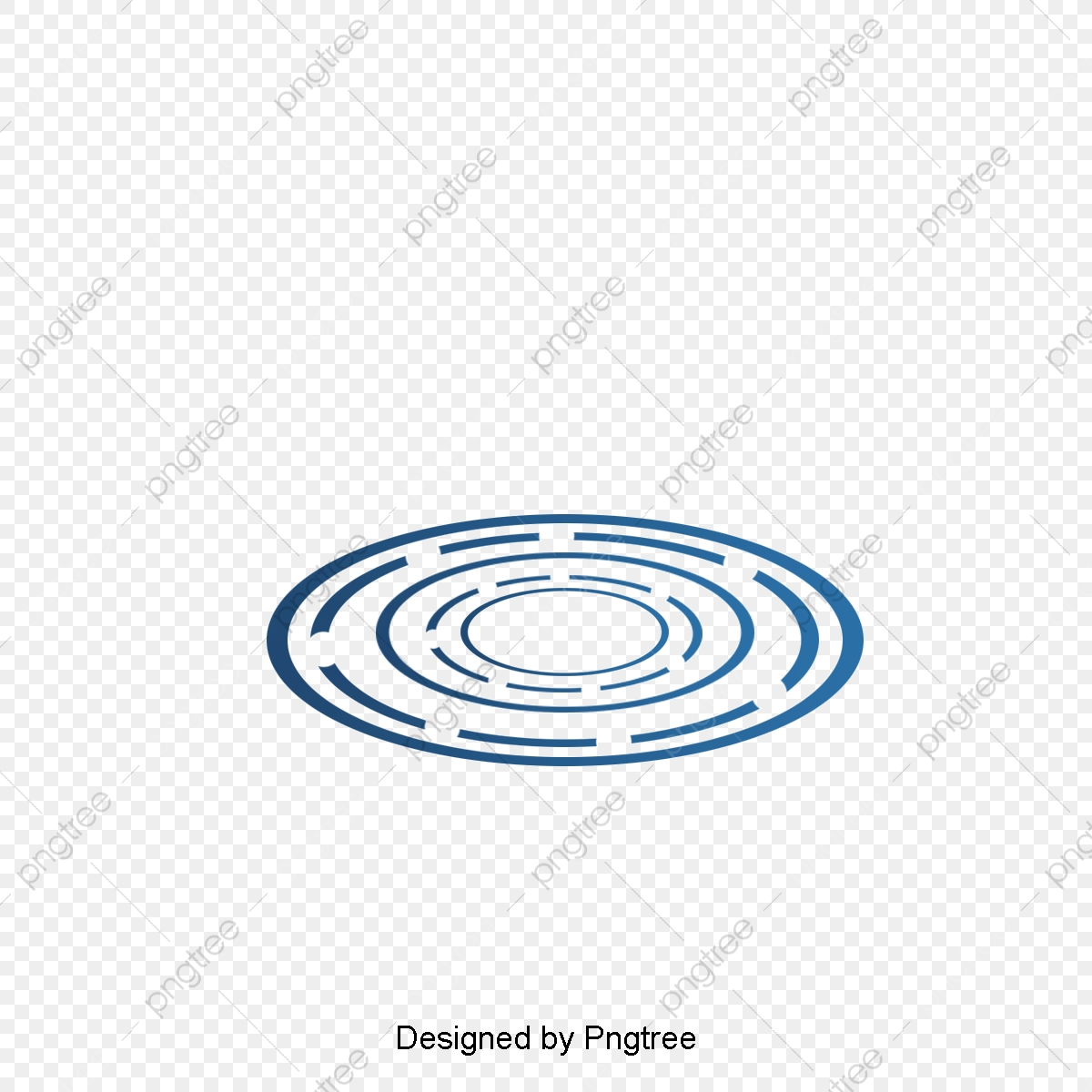 Abstract Blue Circle Geometric Sense Of Technology Abstract