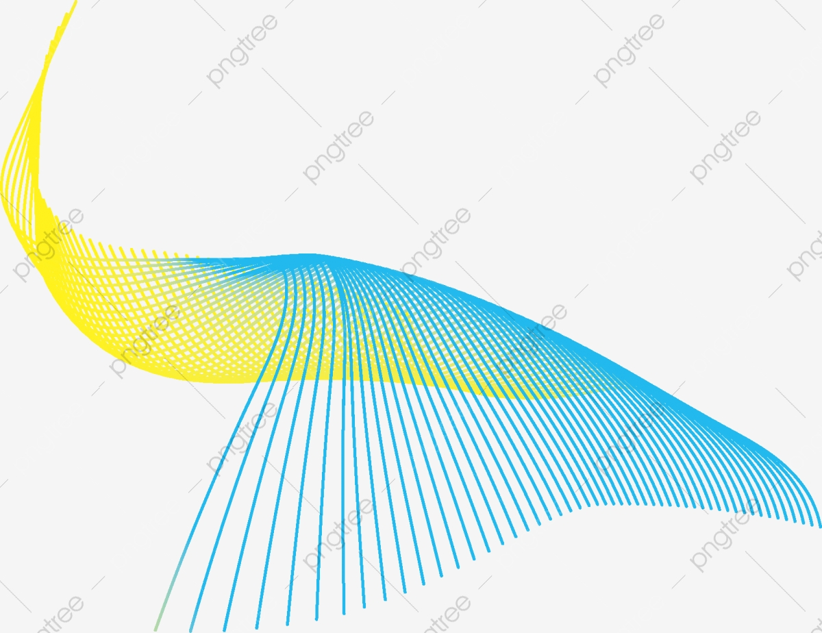 Abstract Color Wave Background Free Vector Line Technology