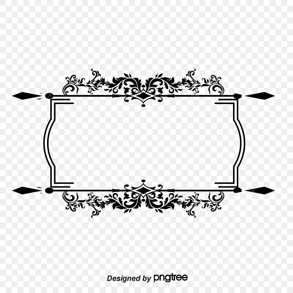 Ancient Black Pattern Vector Frame Vector Ancient Box