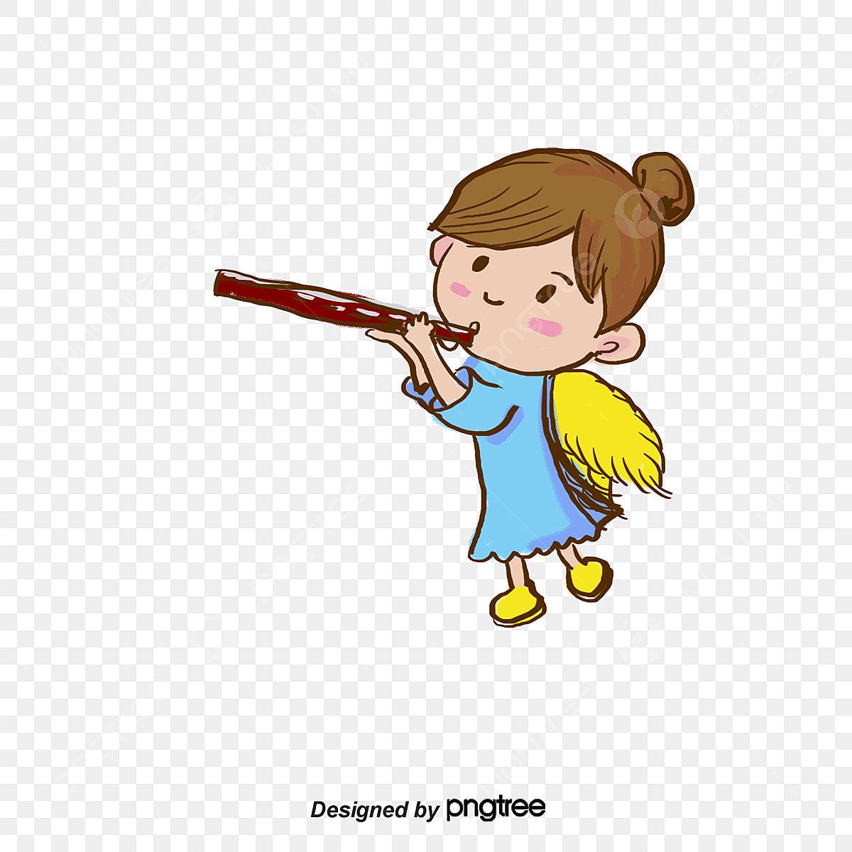 mon ange joue de la trompette ange des ailes dessin png et