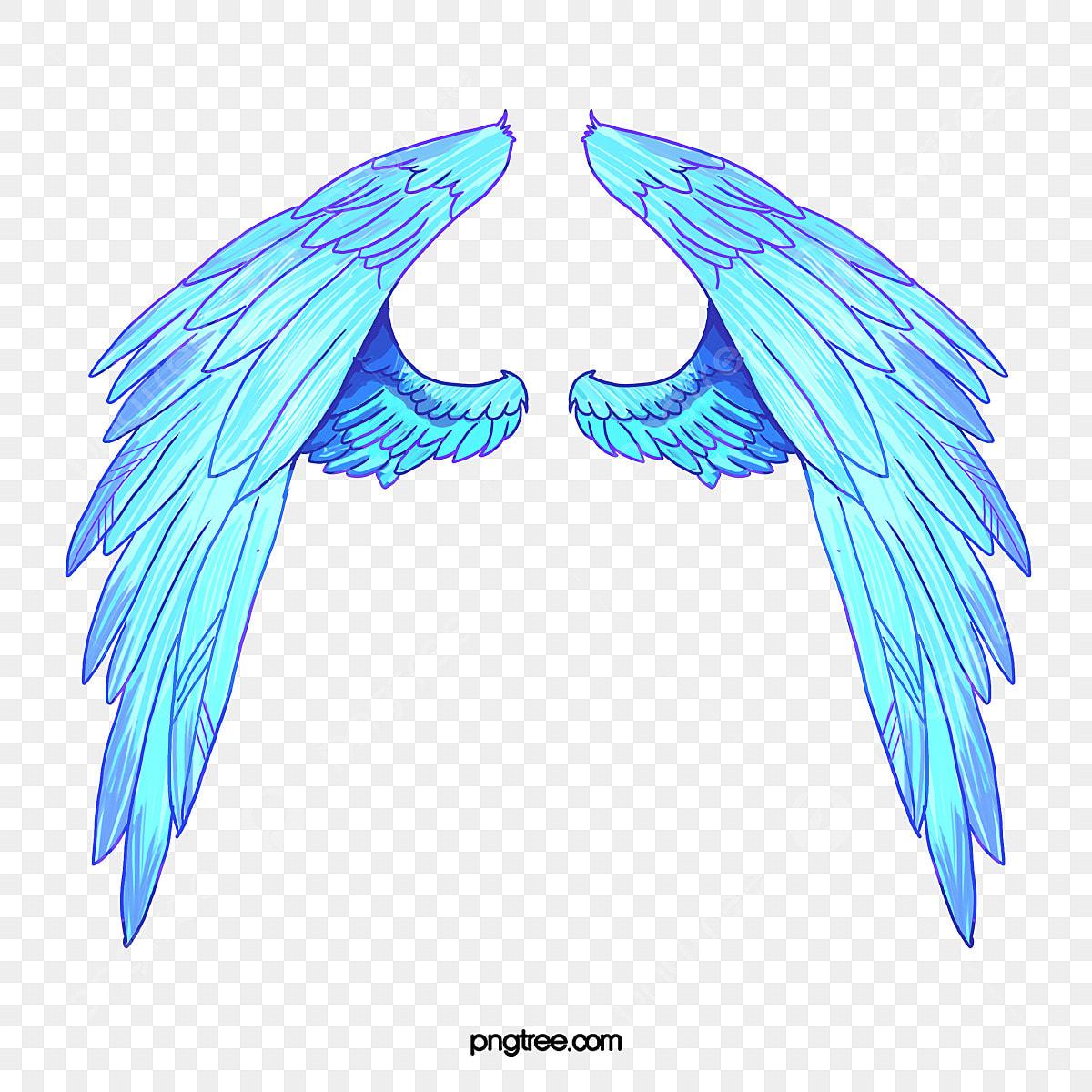 Des Ailes D Ange Style De Dessin Bleu Des Ailes D Ange