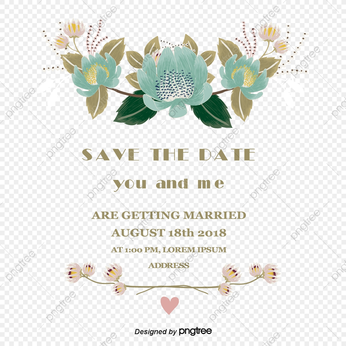 Art Invitation Letter Vector Material Wedding Invitation