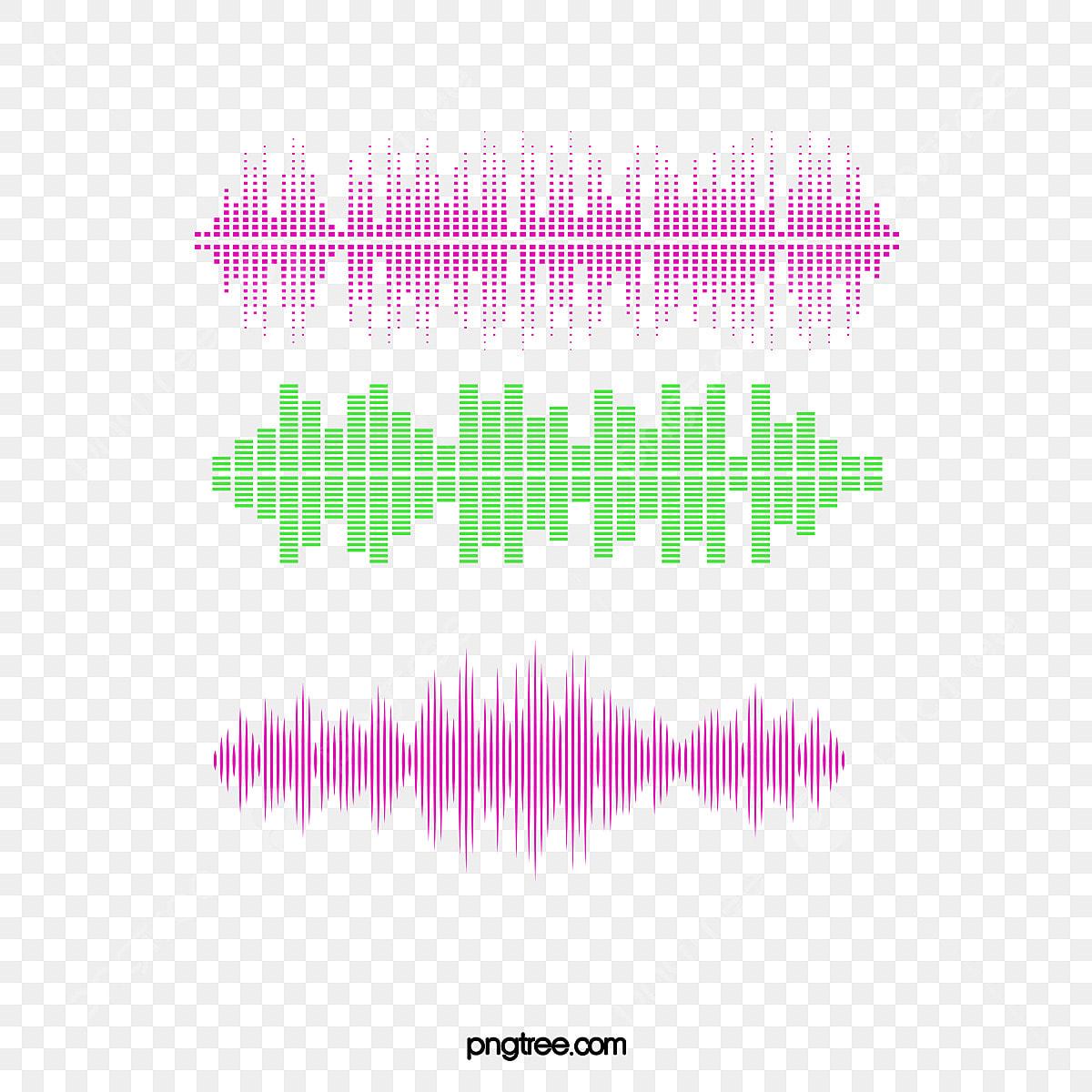 Bar Sound Waves, Vector Material, Color Sound Waves, Bar