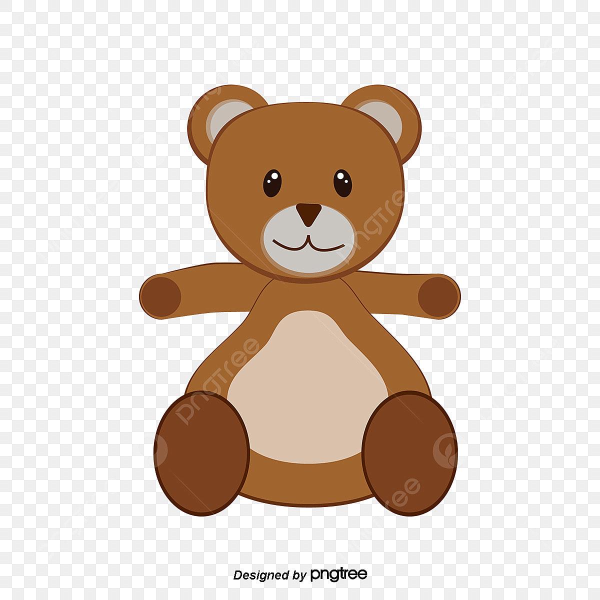 Desenhos Animados Urso Pintado A Mao Flores Gravata Animal Dos