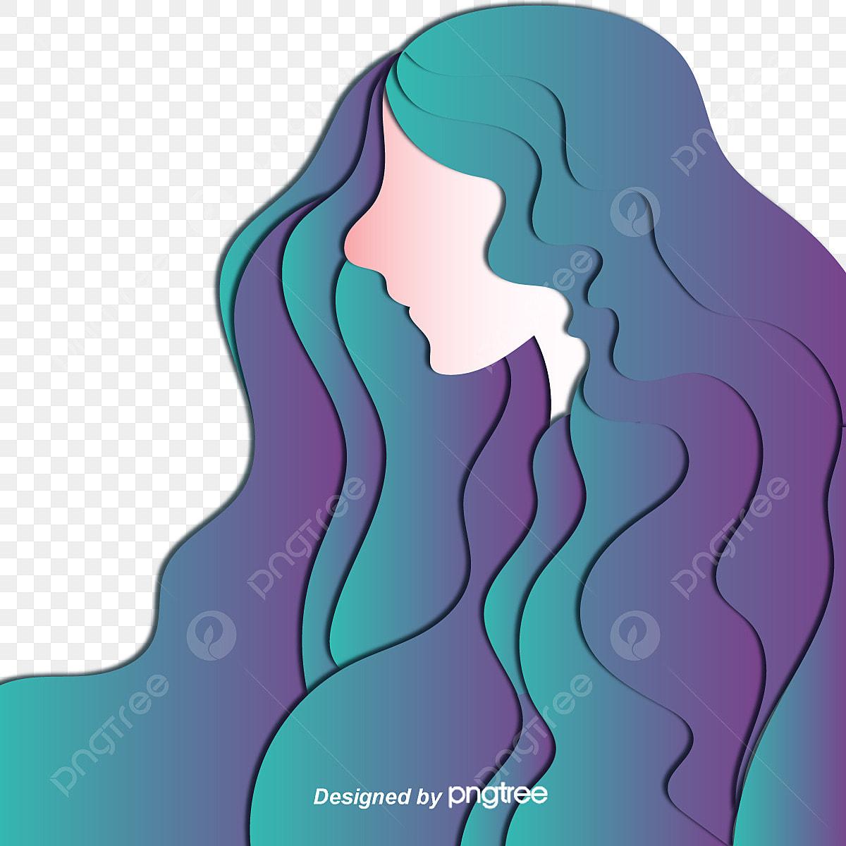 綺麗な長髪の女子の横顔ベクトル 女子が長 横顔 ベクトル画像