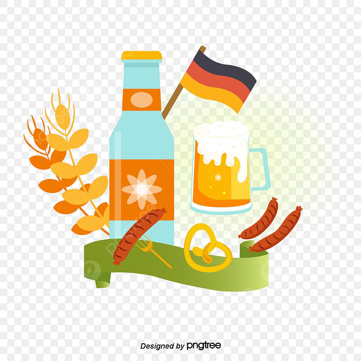 無料ダウンロードのためのビール祭素材イラスト ドイツ 帽子 オーク樽png