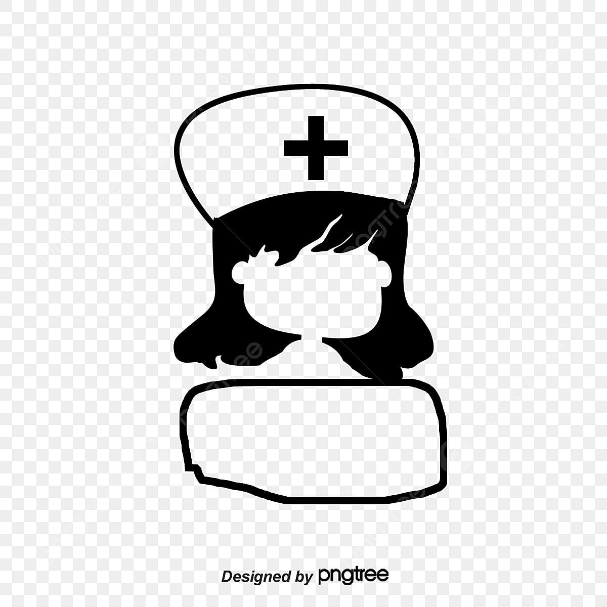 Hitam Dan Putih Kartun Perawat Gambar Pengenalan Hitam Dan
