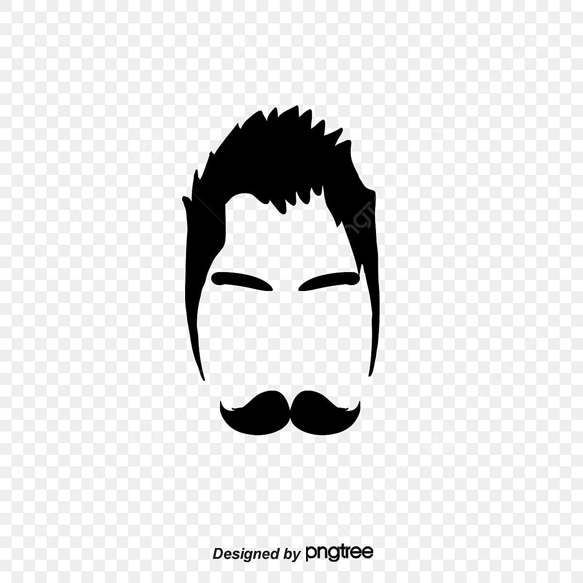logo en noir et blanc homme chez le coiffeur le signe d un
