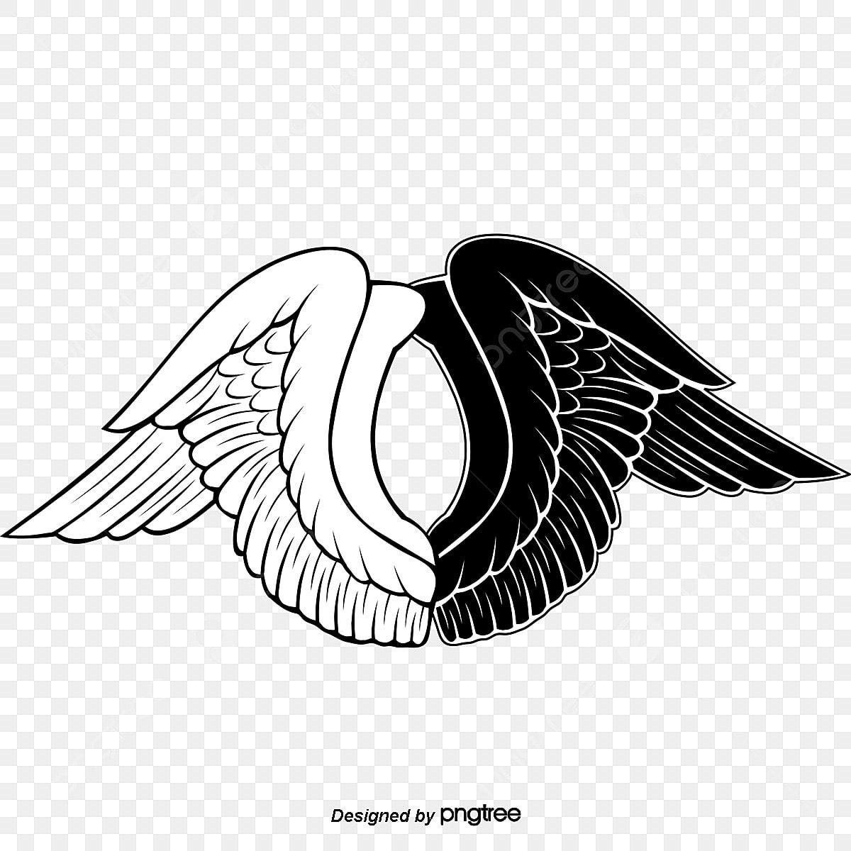 白黒の翼 白黒 イラスト 翼画像とpsd素材ファイルの無料ダウンロード