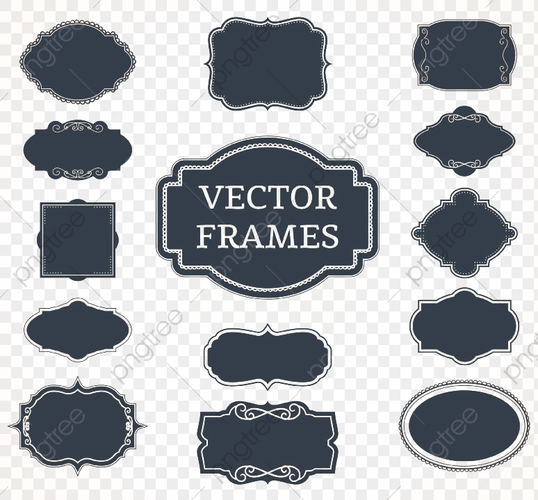Black Blank Label Vector, Black, Blank, Label PNG and Vector