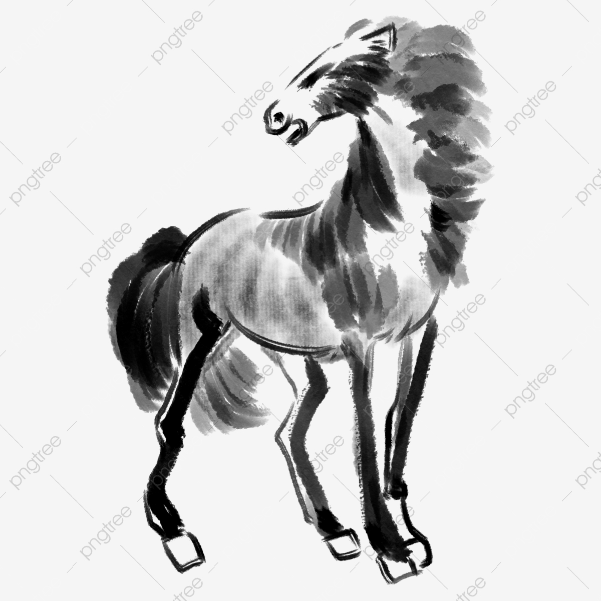 Black Galloping Horses Horse Clipart Black And White Black Horse Png Transparent Clipart Image And Psd File For Free Download