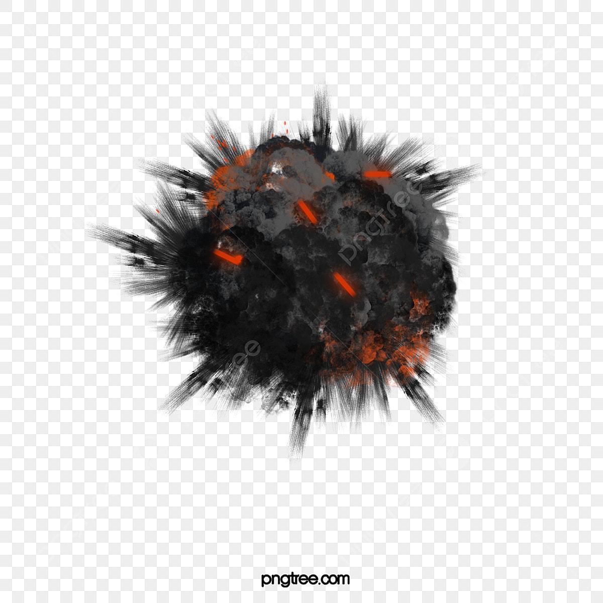 Smoke explosion. Black cartoon png