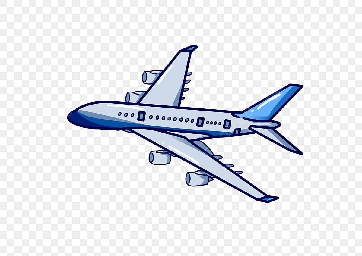無料ダウンロードのためのブルー飛行機のイラストレーター ブルー飛行機