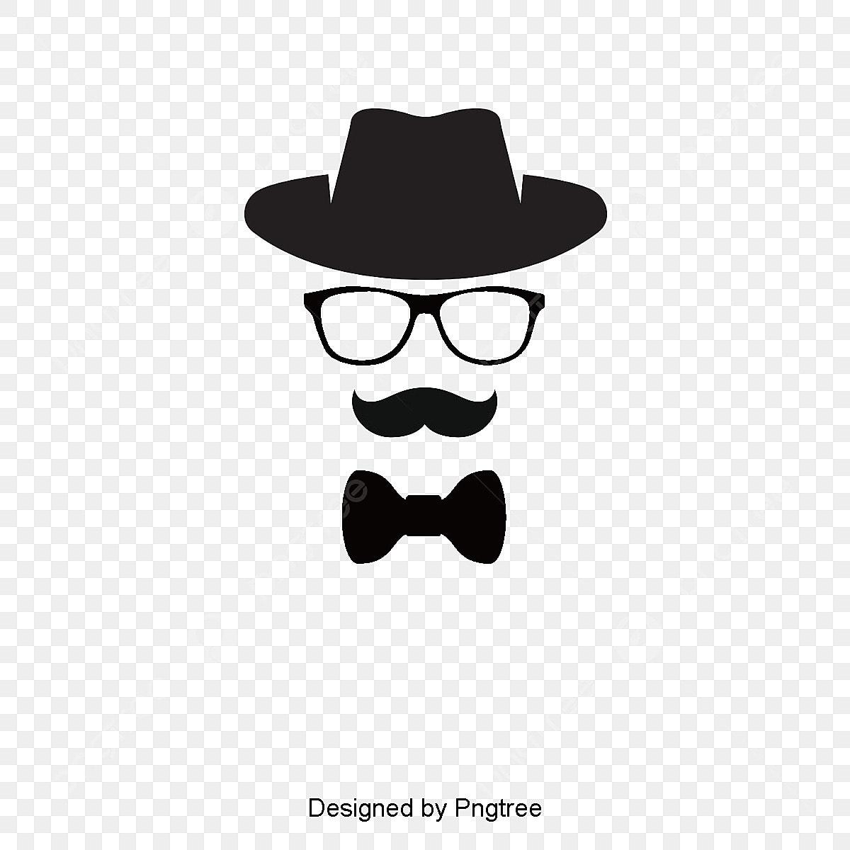 pajarita gafas barba hat elemento vector vector elemento