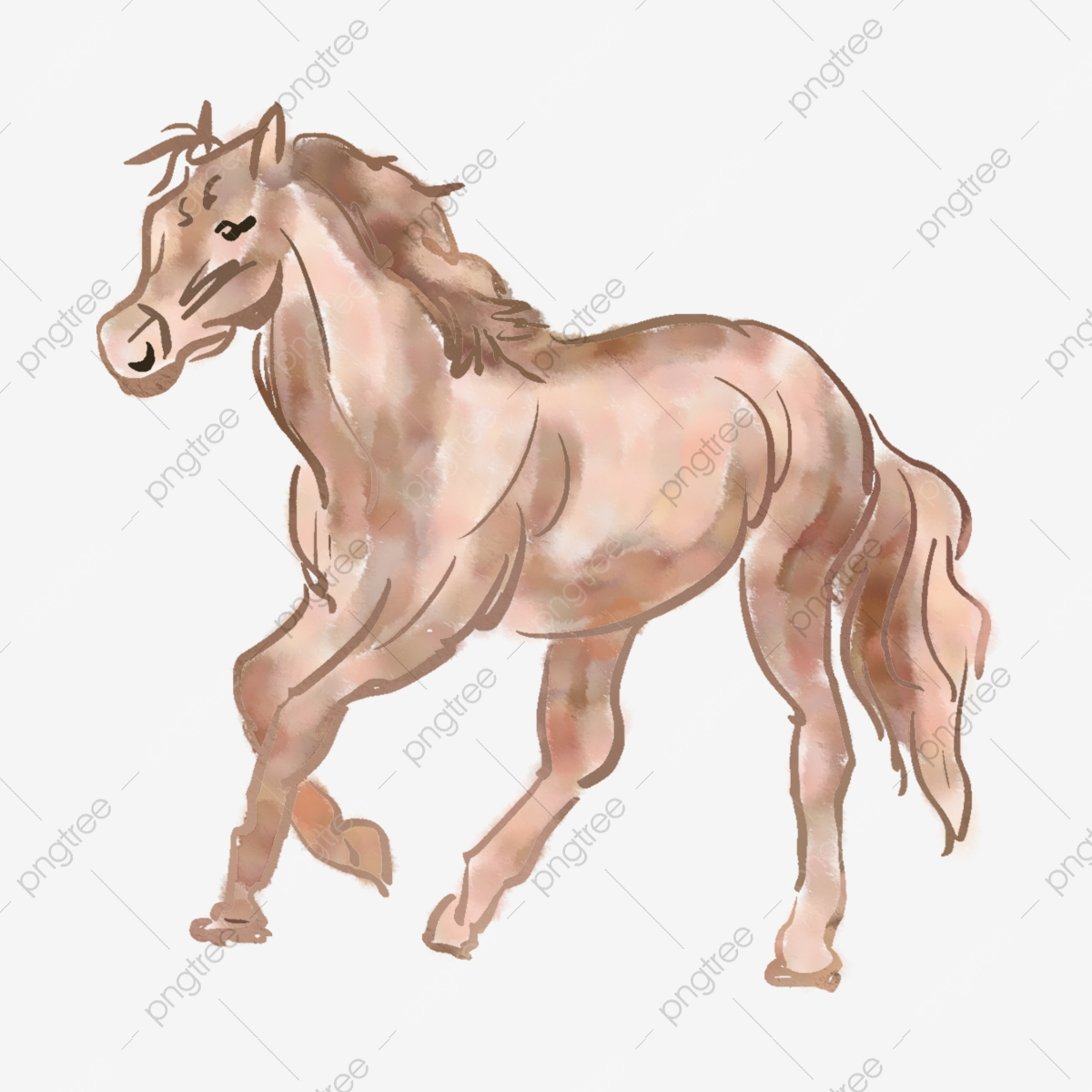 Brown Horse Head Horse Mane, Horse Clipart, Head Clipart ...