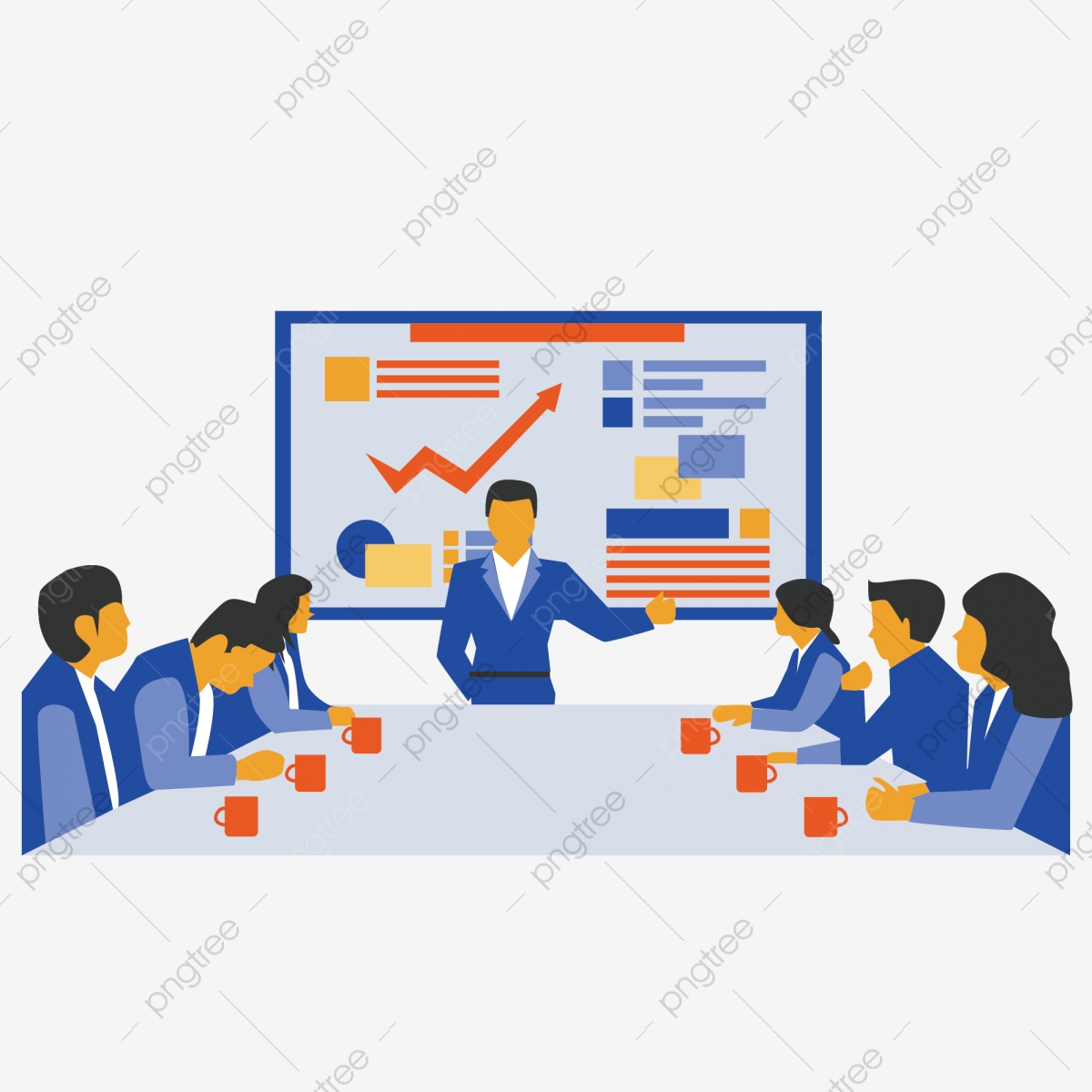 Business Meeting, Business Clipart, Business, Character PNG and Vector with  Transparent Background for Free Download