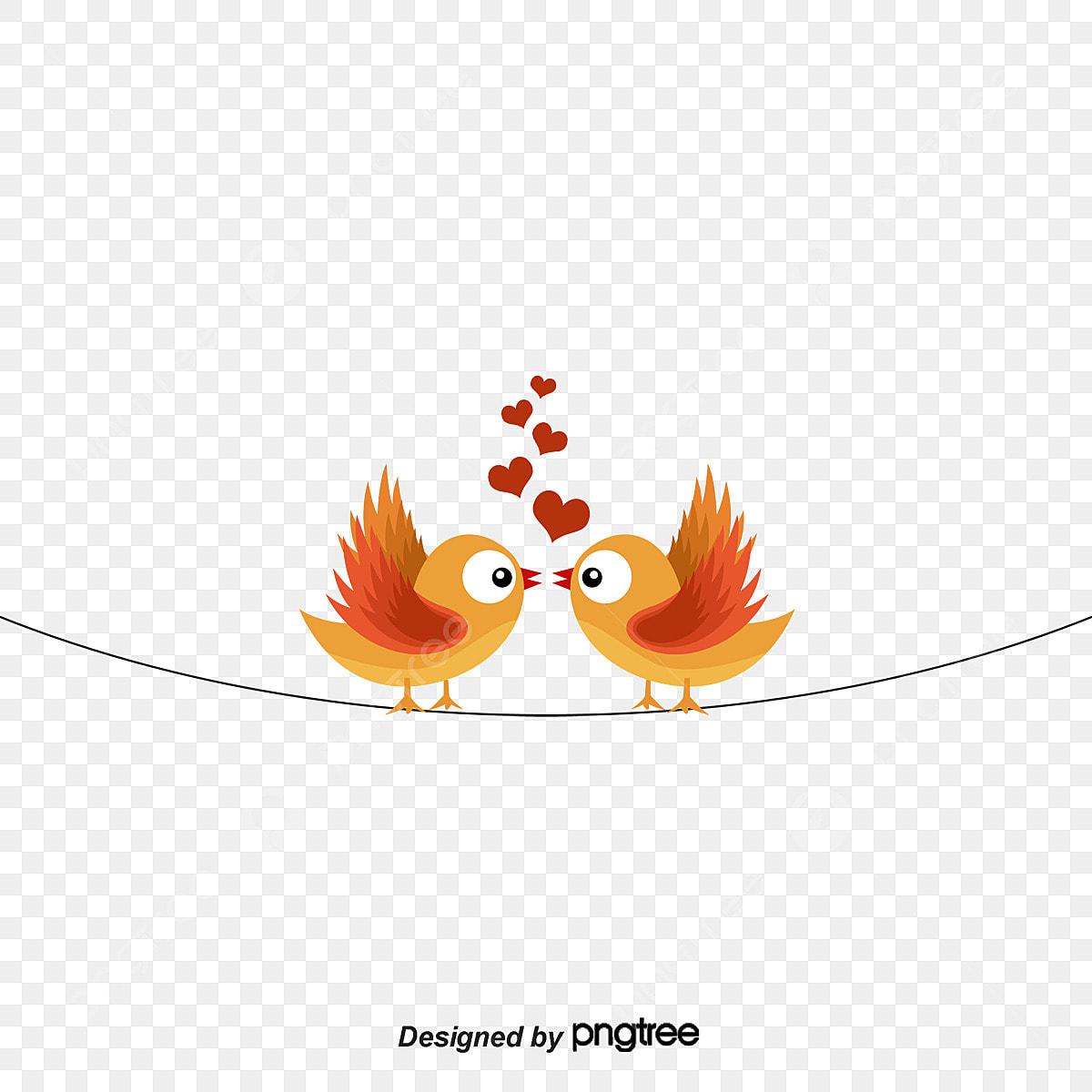 baiser amoureux oiseaux en mati u00e8re de vecteur de dessin de