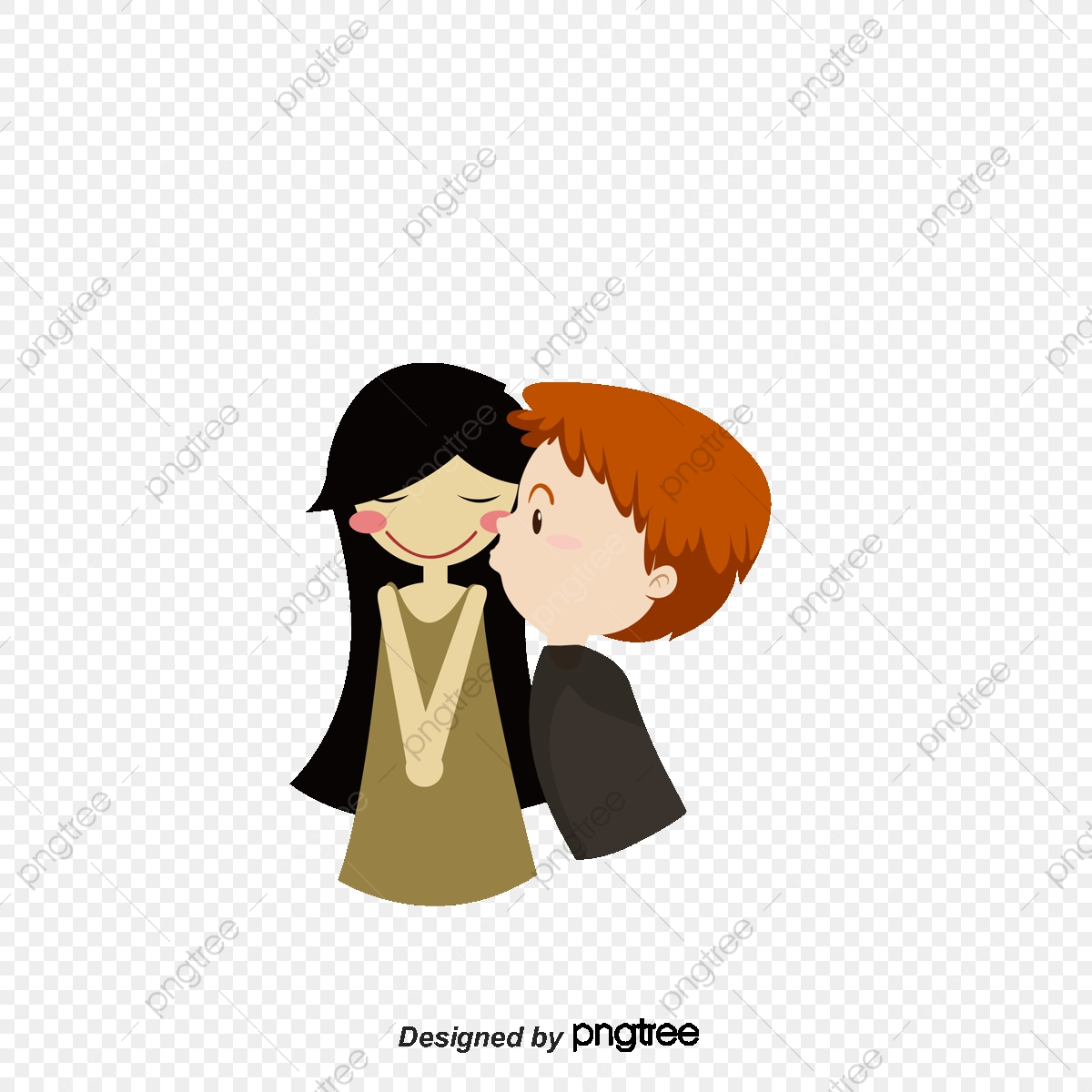 Cartoon Couple Material Cartoon Couple Boys And Girls Love Png
