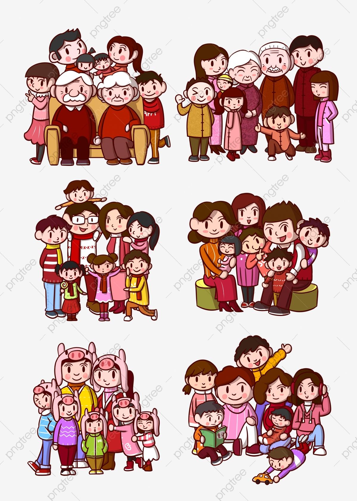 Gambar Kartun Keluarga Potret Keluarga Kartun Kartun Keluarga Keluarga Png Dan Psd Untuk Muat Turun Percuma
