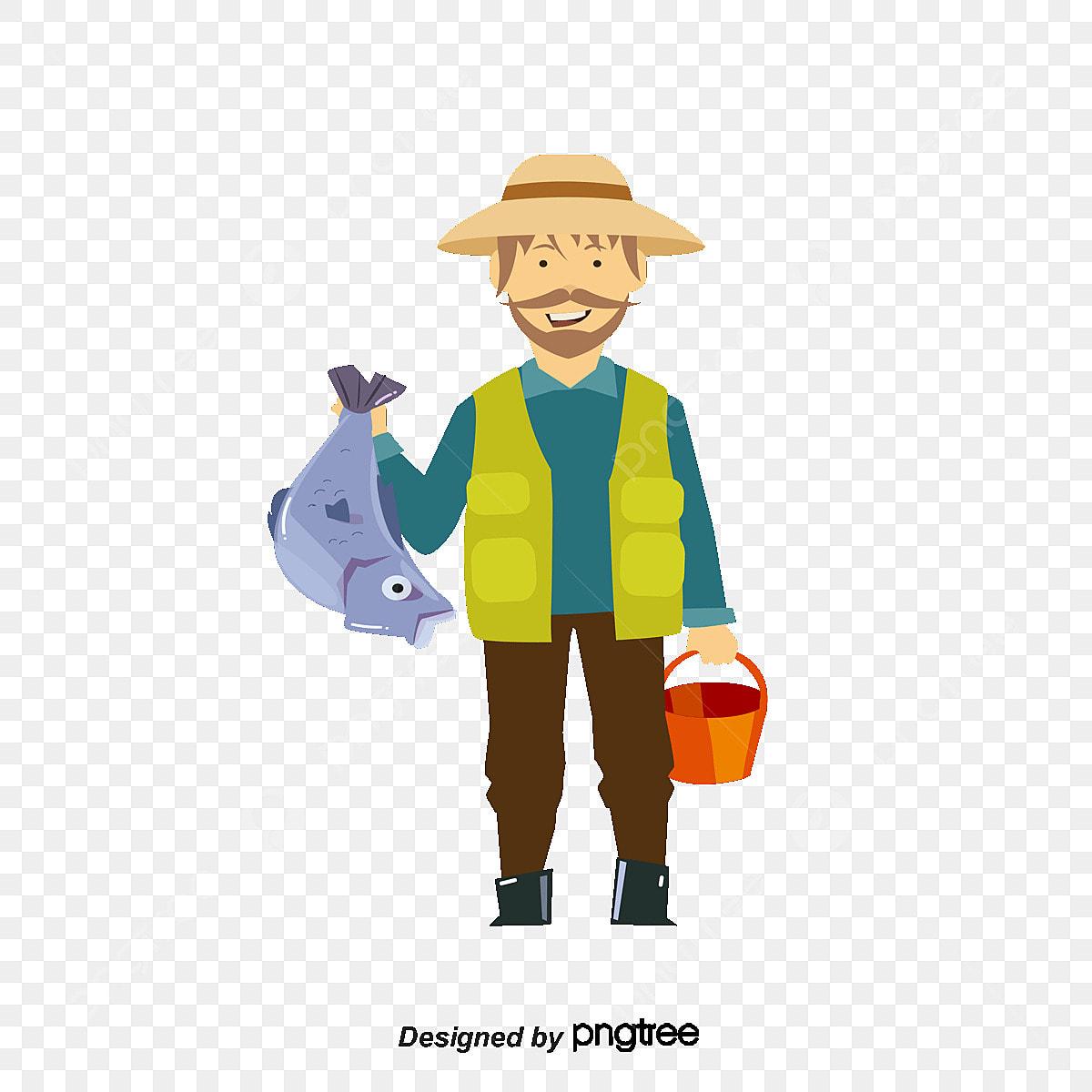 Desenhos Animados De Pescador Cartoon 鱼翁 O Peixe Arquivo Png