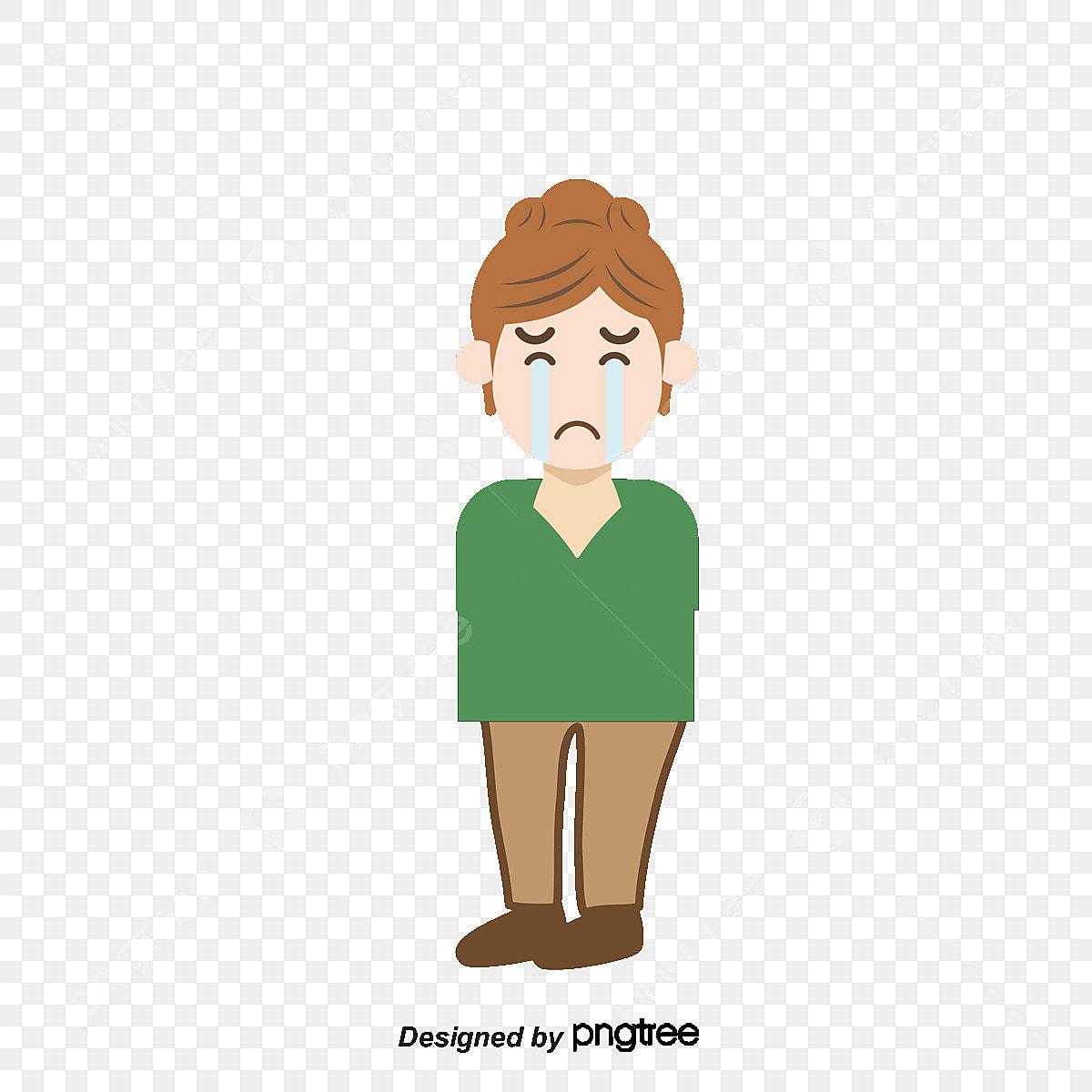 Cartoon Fille Pleure Dessin De Pleurer Fille Triste Png