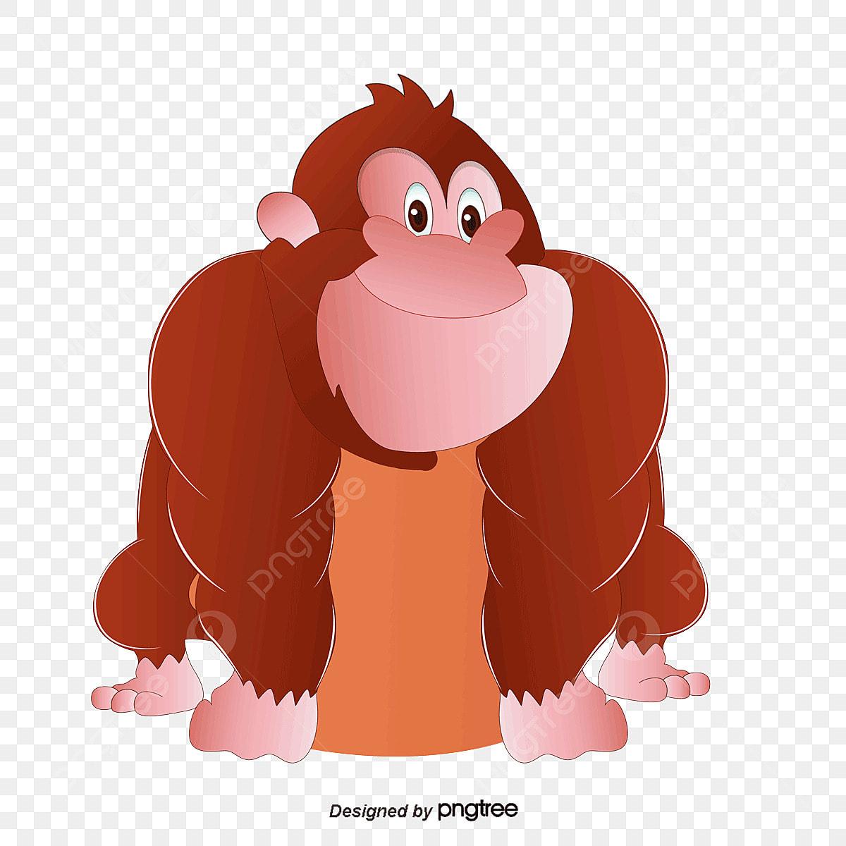 Dessin De Gorille Dessin De Peints A La Main Animal Gorille Fichier Png Et Psd Pour Le Telechargement Libre