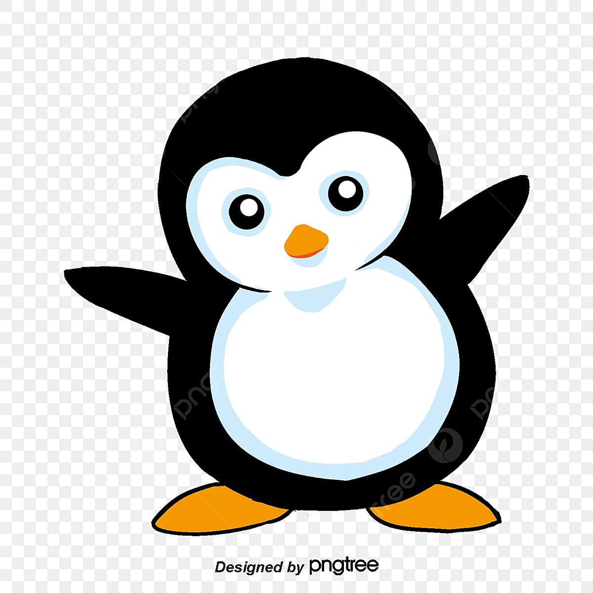 Desenhos Animados Adoraveis Pinguins Pintado A Mao Animais Dos