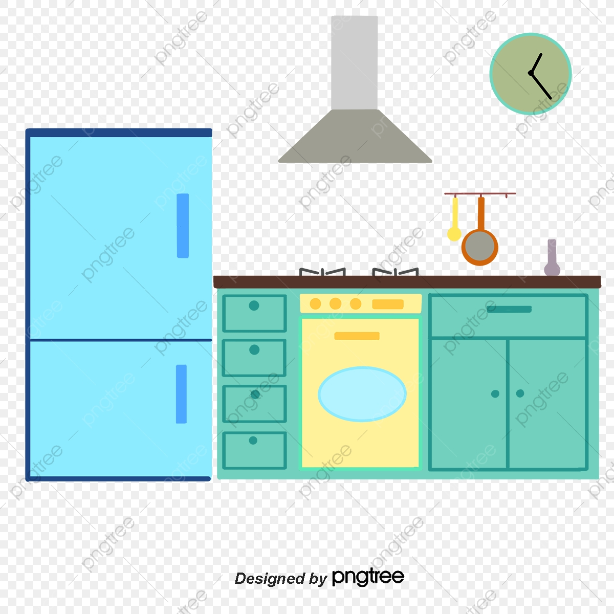 Gambar Kartun Dapur Rata Dapur Kartun Png Dan Psd Untuk Muat Turun Percuma
