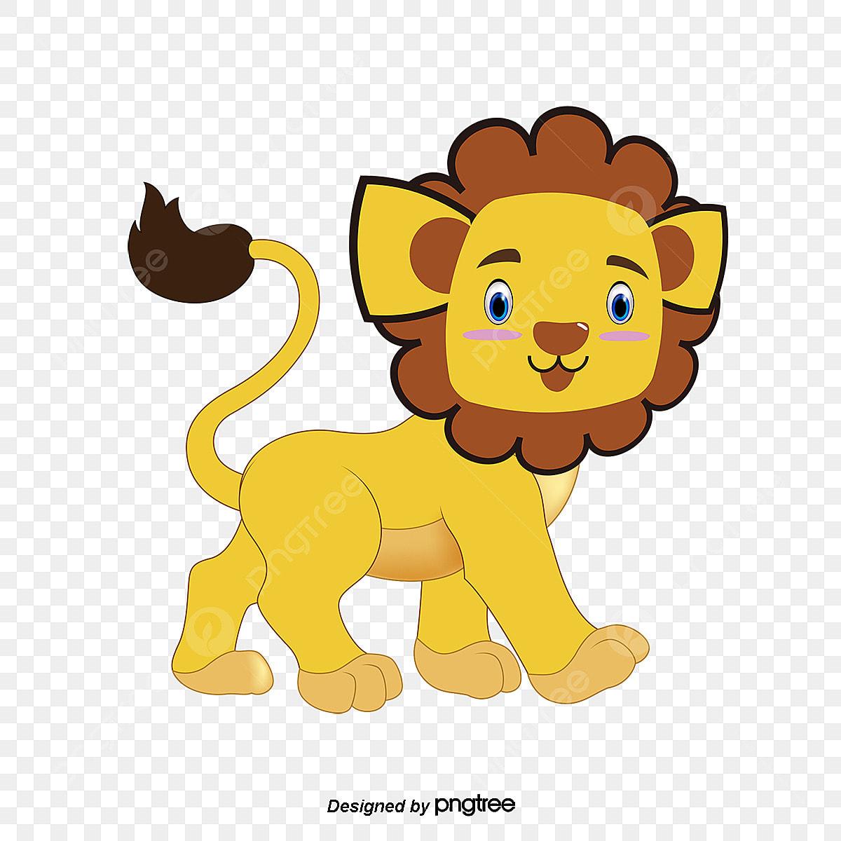 O Material De Desenho Animais Dos Desenhos Animados Cartoon Lion